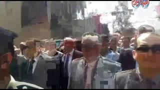 أخبار اليوم |الآلاف يشيعون شهيد الأمن الوطني بالبحيرة في جنازة عسكرية بمسقط رأسه