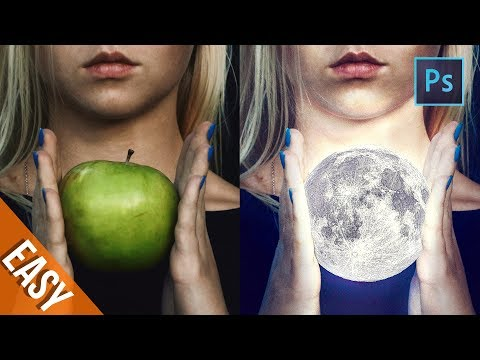 [ Photoshop Manipulation ] How to Adding a MOON - Tutorial Processing