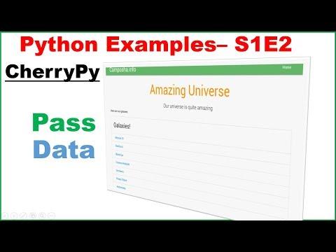 Python Web S1E2 : CherryPy - Pass List Via Jinja