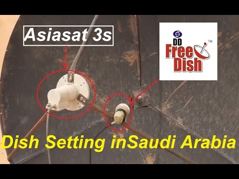 DD Free Dish,Asiasat 7,Nilesat and Paksat Dish setting In Saudi Arabia.