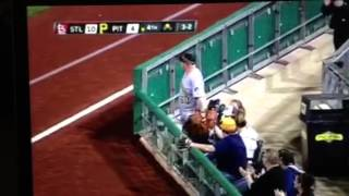 Pittsburgh Pirates Fan Catches Ball With Oversized Glove