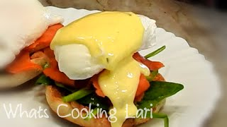 Eggs Benedict with Hollandaise Sauce Recipe by Whats Cooking Lari