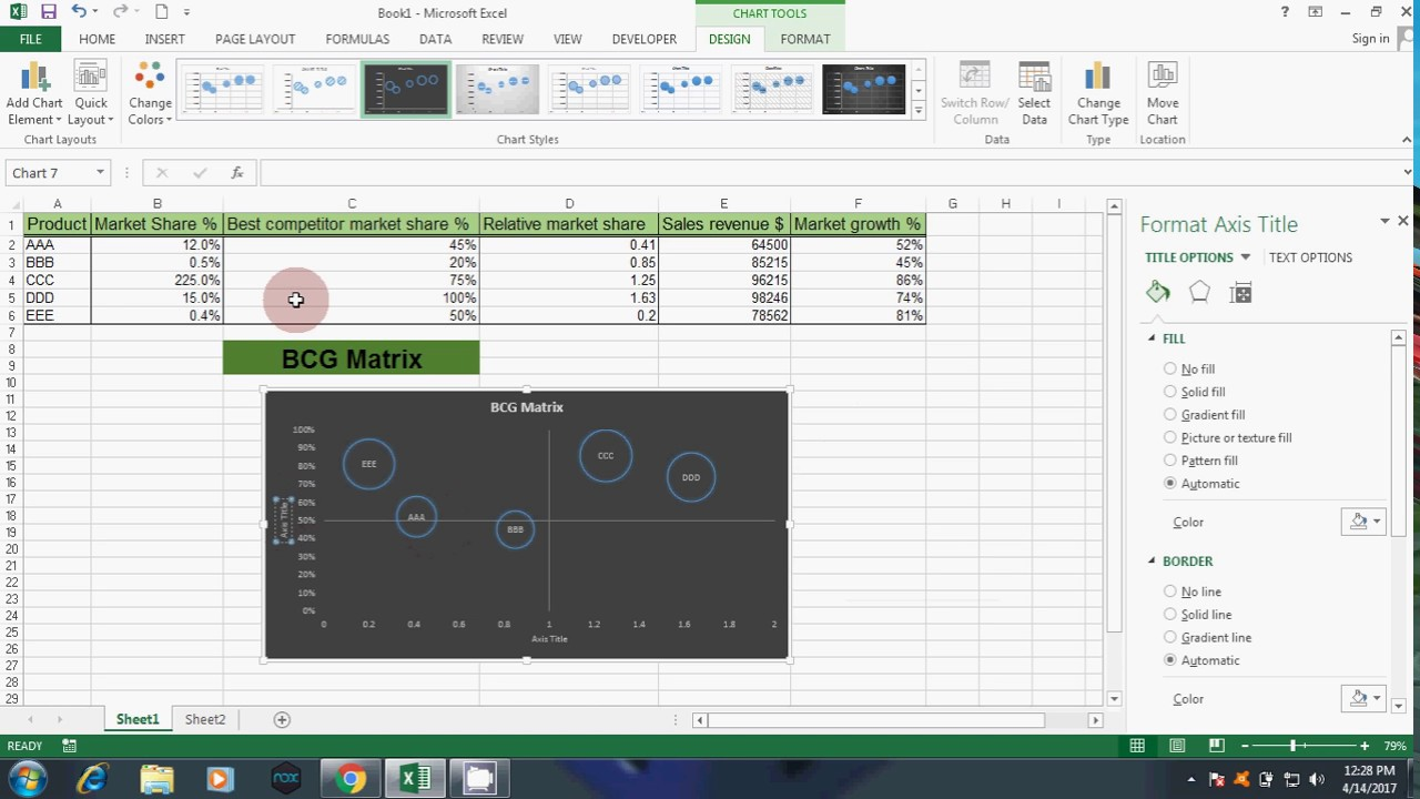 Create bcg matrix in excel youtube create bcg matrix in excel toneelgroepblik Gallery