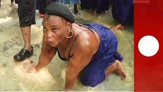 Voodoo cleansing ritual at Haiti waterfalls