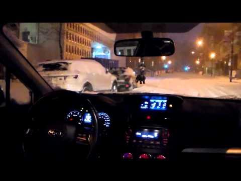 Snow Storm Subaru Impreza 2012 Montreal long drive CVT