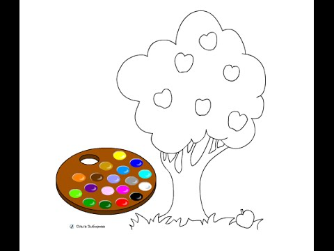 apple tree coloring pages for kids apple tree coloring pages - Apple Tree Coloring Page