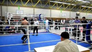 first kickboxing fight - 85 kg K.O.