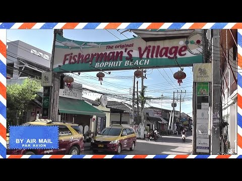 Fishermans Village afternoon walk – Bophut, Koh Samui, Thailand – Koh Samui attractions