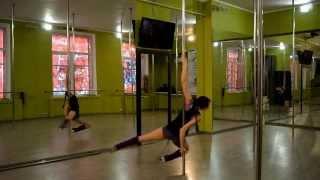 Видео уроки POLE DANCE  .Крутка-облёт для продолжающих. Татьяна Стрекоза Харитонова