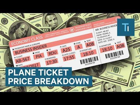 Breakdown Of Plane Ticket Price