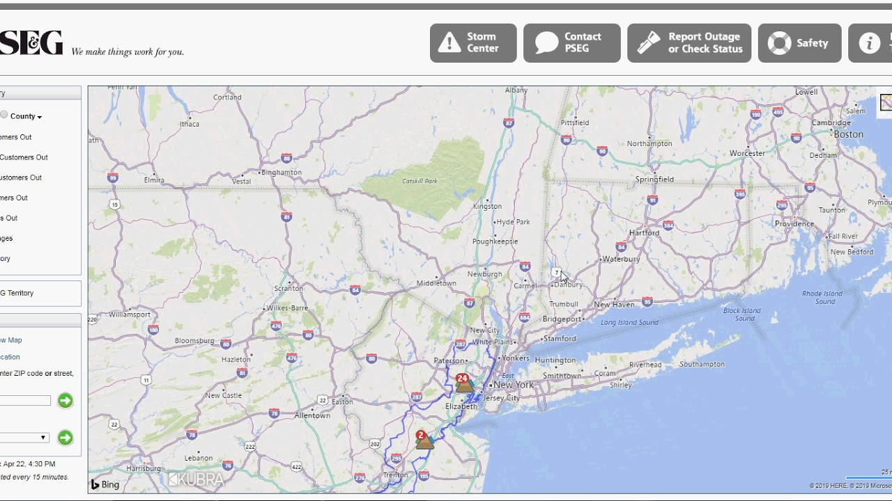 PSEG Outage Map - YouTube