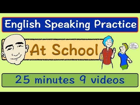 At School | Long Video | English Speaking Practice | ESL | E