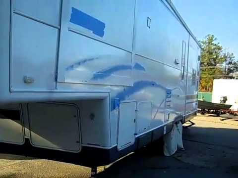 Rustoleum 50 Rv Roller Paint Job Youtube