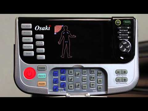 Osaki OS-4000 remote functions