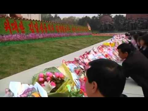 North Koreans celebrate the 102nd birthday of founder Kim Il sung