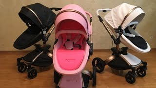 Baby Stroller AULON Pink Colour Model 2017 New +CONTEST + Gift