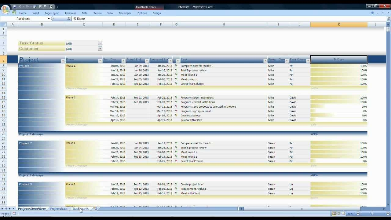 Project management application in excel youtube 1betcityfo Images