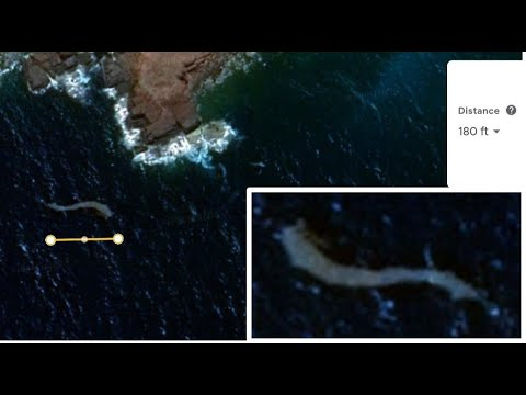 Gigantic 180-feet Sea Monster detected on the coast of Puerto Rico through Google Earth