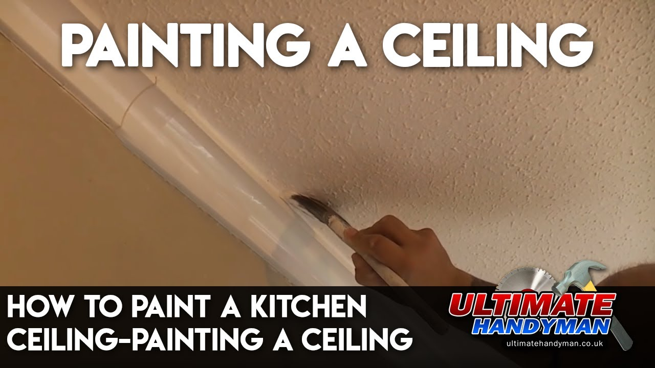 how to paint a kitchen ceiling painting a ceiling youtube rh youtube com
