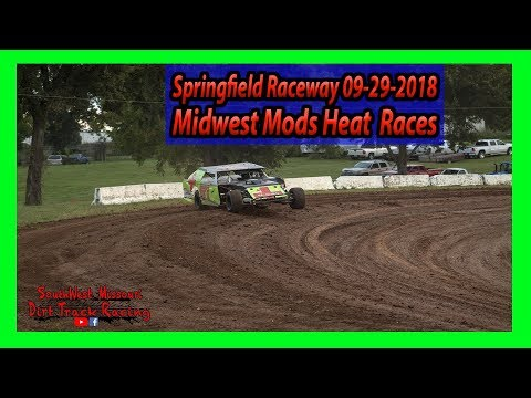 Midwest Mods Heat Races Springfield Raceway 9-29-2018 Under The Lights 100