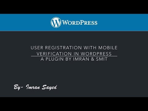 User Registration with Mobile OTP Verification in WordPress