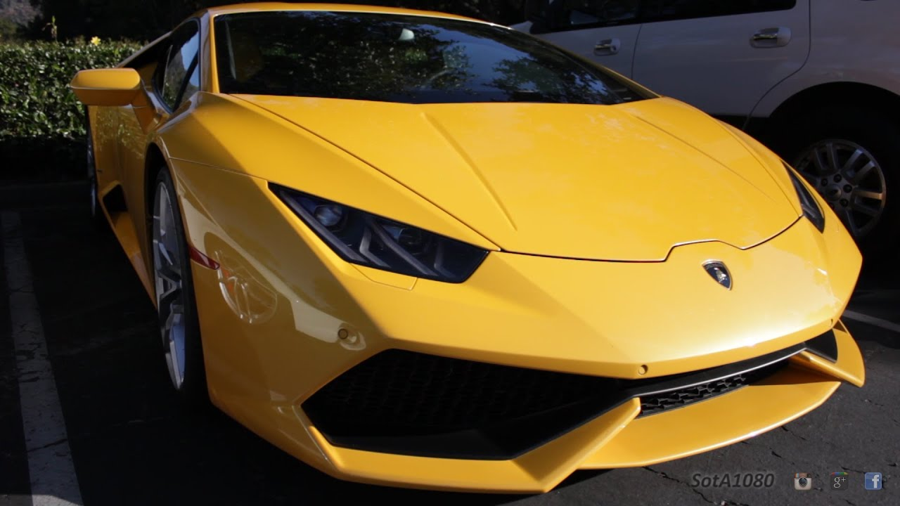 yellow lamborghini huracan youtube. Black Bedroom Furniture Sets. Home Design Ideas