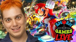 MARIO KART 8 DELUXE +  Q&A LIVE! (Smosh Games Live)
