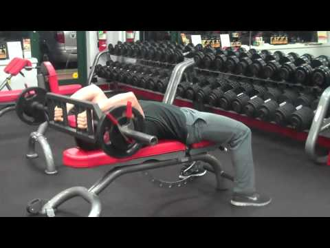 Lying Tricep Extensions (with Swiss Bar)