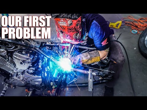 Our First Problem - Honda Shadow Bobber Build | Ep. 3