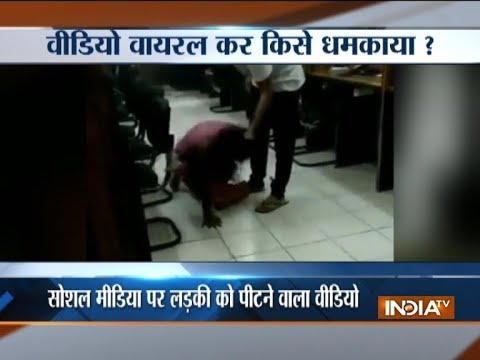 Video of a girl being brutally thrashed by a youth goes viral on social media