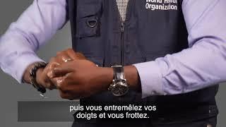 Comment laver les mains avec du gel désinfectant pour les mains