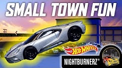HW NIGHTBURNERZ IN SMALL TOWN FUN | Hot Wheels