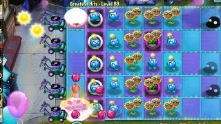 Plants vs Zombies 2 Endless Greatest Hits Level 88 Electric BlueBerry