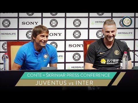 JUVENTUS vs INTER   ANTONIO CONTE + MILAN SKRINIAR PRESS CONFERENCE   ICC 2019 [SUB ENG]