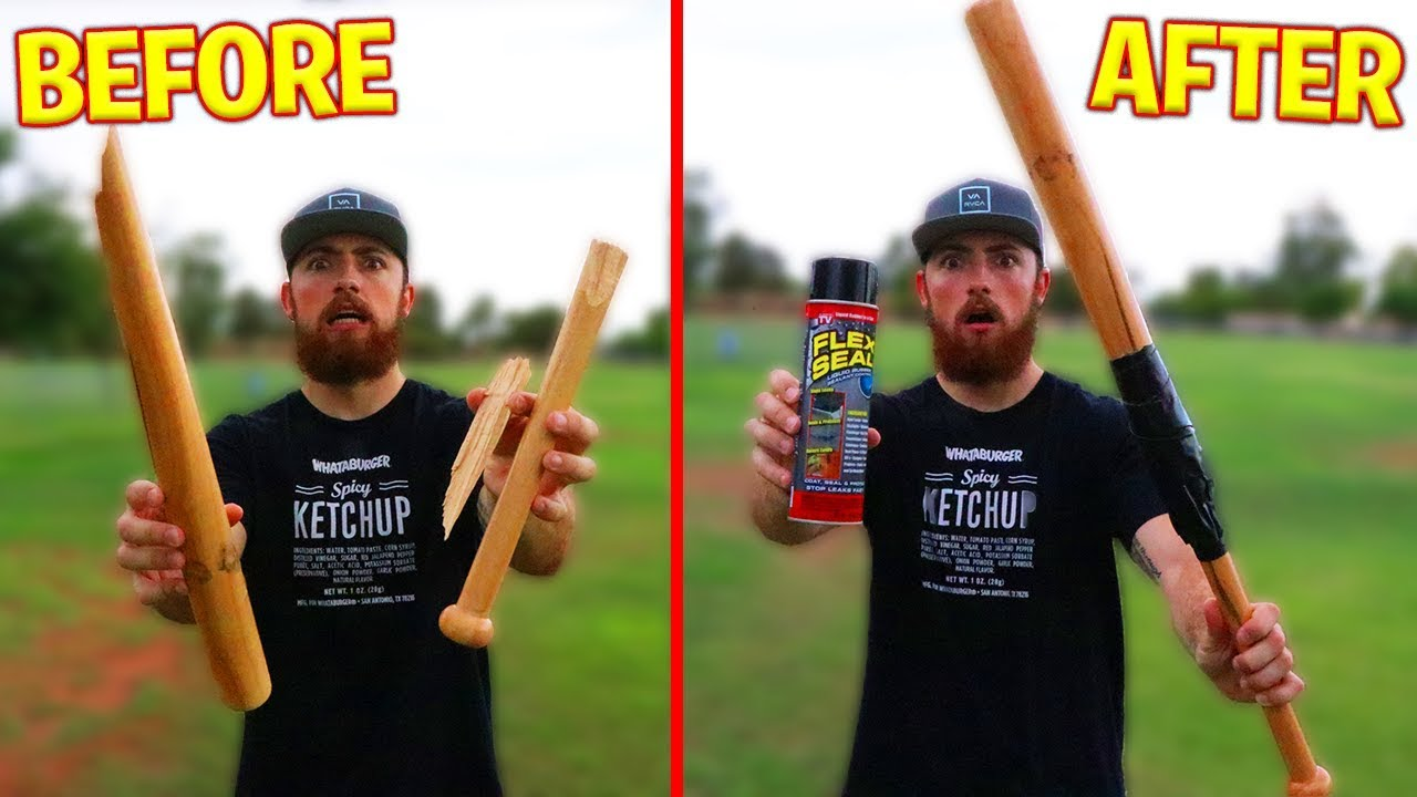 Can Flex Seal Fix A Broken Baseball Bat Irl Challenge
