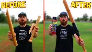 Can Flex Seal Fix A Broken Baseball Bat? IRL Baseball Challenge