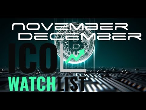 Best ICO's to watch in November December