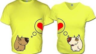 Парные ФУТБОЛКИ для двоих влюбленных - 2019 / Paired t-shirt for two lovers