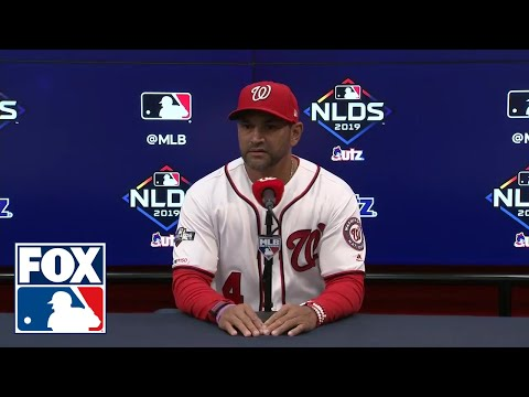Dave Martinez addresses the media after NLDS Game 3 loss to Dodgers | FOX MLB