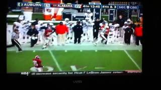 Auburn vs. Alabama 2010. Highlights