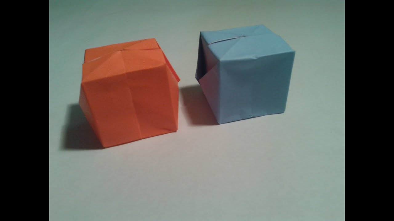 Origami - How to make a easy origami cube (3D) - YouTube - photo#30
