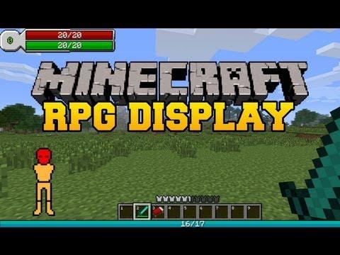 Minecraft Mod Showcase - RPG HUD (RPG Heads Up Display)