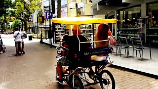 Nice Family Tandem Quadricycle Cycling in Italy