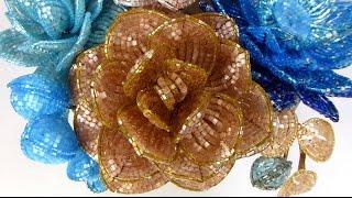 """""""Сновидение"""". Урок 5 - Камелия из бисера, сборка / """"Dream"""". Lesson 5 - Beaded camellia, assembling"""