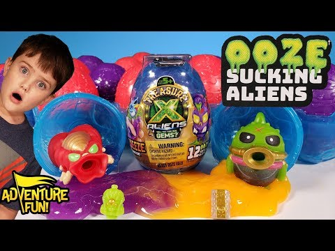 "12 Treasure X Aliens – Alien Ooze ""Eggs"" Season 2 Adventure Fun Toy Review!"