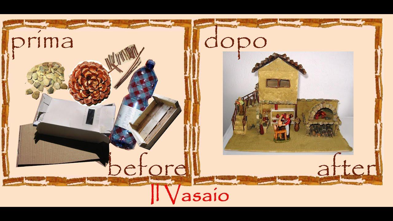 Bien-aimé Creative recycling bottles, cardboard, wood: Christmas crib potter  IP55