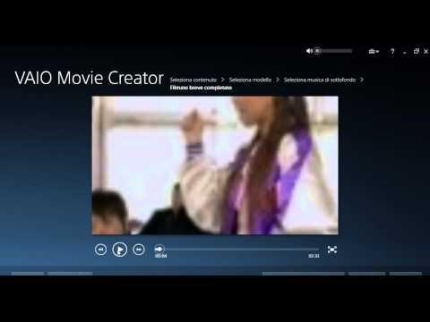 Come usare l'app VAIO movie creator
