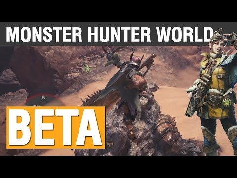 Monster Hunter World Beta Livestream (PS4 Pro) | All 3 Available Quests, Training, Learning