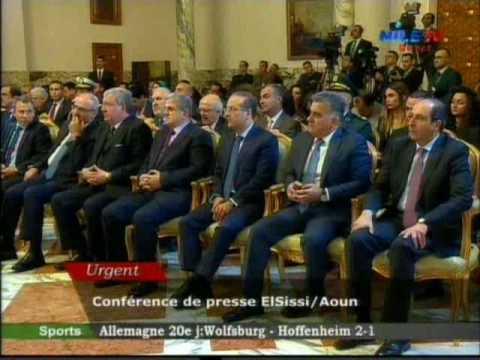 Conference de presse El Sissi  Aoun