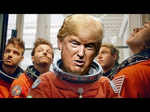 Donald Trump Singing Drag Me Down Song  One Direction